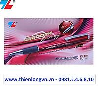 Hộp 20 cây bút bi 0.7mm Thiên Long - TL036 màu đỏ