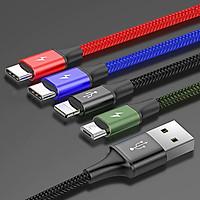 Dây cáp sạc đa năng 4 in1 2 Type-C, Lightning, Micro USB hiệu Baseus Rapid Series cho iPhone/ iPad, Smartphone & Tablet Android (3.5A, 1.2M, Fast charge 4 in 1 Cable) - Hàng chính hãng