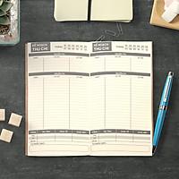Sổ tay Planner - Sổ tay giữ tiền bìa cứng 21x11 tài chính cá nhân, thu chi, tiết kiệm