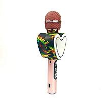 Micro Hát Karaoke Kết Nối Blueooth GUTEK Q5 Hình Trái Tim, Đèn Đổi Màu Theo Nhạc, Âm Thanh Hay, Bass Xuất Sắc, Hỗ Trợ Kết Nối Usb, Thẻ Nhớ, 3.5, Nhiều Màu Sắc  - Hàng chính hãng