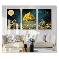 Decal dán tường bộ 3 khung tranh đẹp Tipo_0201