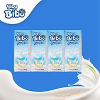 [Lốc (04) hộp giấy 180ml] Bibabibo Sữa Gạo từ gạo ST25 ngon nhất thế giới, sữa hạt, sữa thực vật, tốt cho da, miễn dịch, giảm cân, tim mạch