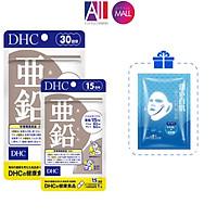 Viên uống hỗ trợ giảm mụn bổ sung kẽm DHC zinc TẶNG mặt nạ Sexylook (Nhập khẩu)