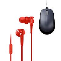 Combo Tai Nghe Sony ExtraBass MDR-XB55AP & Chuột BlueLED ELECOM M-Y8UBBK - Hàng chính hãng