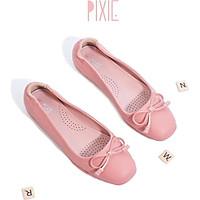 Giày Búp Bê Bệt Phối Nơ Số 8 Siêu Dẻo P019 Màu Hồng Pixie