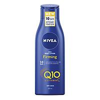 Dưỡng thể trắng da chống lão hoá Nivea Rich Body Lotion Firming Q10 + Vitamin C - Da khô - 250ml (Bill Anh)