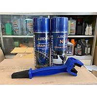 Bộ chăm sóc sên xe máy ARROWsp ( 01 xịt sên 400ml + 01 rửa sên N4 400ml + 01 bàn chải chà sên )