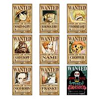 Poster truy nã Băng Hải Tặc Mũ Rơm (Timeskip) - One Piece