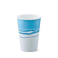 Ly giấy lạnh thương hiệu Detpak-Dung tích 360ml-12oz-Igloo in họa tiết xanh dương nền trắng-30 ly/gói