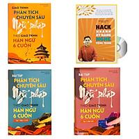 Combo 4 sách: Giáo trình phân tích chuyên sâu Ngữ Pháp theo Giáo trình Hán ngữ 6 cuốn + Bài tập tập 1 (Hán 1-2-3-4) + Bài tập tập 2 (Hán 5-6) và  Hack nhanh kỹ năng nghe tiếng Trung  từ sơ cấp đến nâng cao+ DVD tài liệu