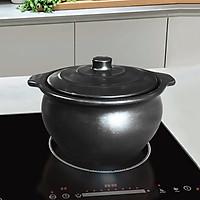 Nồi đất bếp từ NodaCook Bát Tràng bằng sứ tráng men đen 3 lít - Hàng chính hãng