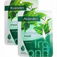 Combo mặt nạ Avander: 1 Hũ Mặt nạ đất sét Ốc sên +4mặt nạ giấy Trà xanh, Collagen