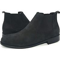 Giày Chelsae Boot da búc đen cao cấp