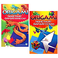Combo Origami Nghệ Thuật Gấp Giấy Cơ Bản + Origami Nghệ Thuật Gấp Giấy Nâng Cao (Minh Long) (Bộ 2 Cuốn)