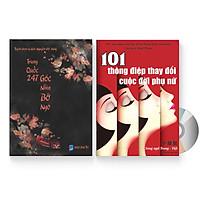 Combo 2 sách: Trung Quốc 247: Góc nhìn bỡ ngỡ (Song ngữ Trung - Việt có Pinyin) + 101 Thông Điệp Thay Đổi Cuộc Đời Phụ Nữ (Song Ngữ Trung Việt Có Phiên Âm) + DVD quà tặng