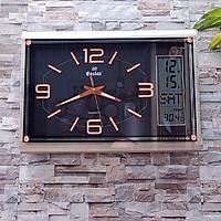 Đồng hồ Eastar Chữ nhật Dạ Quang (*), Kim Trôi & Màn hình Điện tử Lịch, Nhiệt Độ