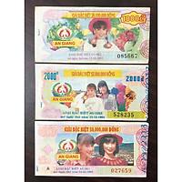 Combo 3 tờ vé số tỉnh An Giang 1993, 1994, 1995 sưu tầm