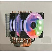 Quạt Tản Nhiệt CPU VSP Cooler T300i với 2 Fan LED RGB - lk1984 - hàng nhập khẩu