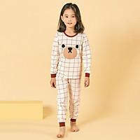 Bộ đồ dài tay mặc nhà cotton mịn cho bé gái U1004 - Unifriend Hàn Quốc, Cotton Organic