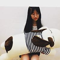 Gấu bông Chó Tai Dài ngộ nghĩnh  màu trắng