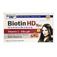 Thực phẩm bảo vệ sức khỏe Biotin HD New - HDPHARMA-Hỗ trợ đẹp da, tóc chắc khỏe