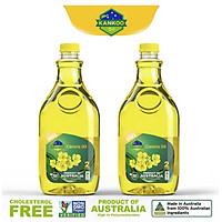 Combo 2 chai dầu ăn hạt cải nguyên chất Kankoo 2L nhập khẩu chuẩn Úc