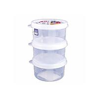 Bộ 03 hộp nhựa bảo quản thực phẩm hình tròn 180ml - Hàng nội địa Nhật