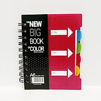 Sổ Lò Xo Phân Trang The New Big Book Or Color A6 (Màu Ngẫu Nhiên)