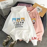 Áo hoodie ba co gấu và năm dòng chữ LN11