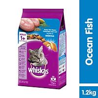 Thức ăn mèo Whiskas vị cá biển túi 1.2kg