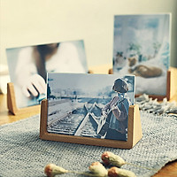 Khung ảnh để bàn bằng gỗ + kính