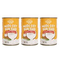 Combo 3 lon nước cốt dừa tươi từ 100% dừa nguyên chất Cocoxim Chef's Choice CB3.CDCC400TI COCOXIM 400ml