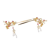 Set of 2pcs Butterfly Hair Clips Retro Wedding Tassel Golden Hair Jewelry