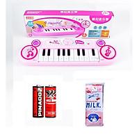 Đồ chơi đàn piano 12 phím cho bé kèm 2 viên pin 34x9.5x3.5cm, chọn màu theo ý+ Tặng kèm hộp đựng bút theo màu chọn