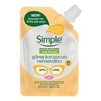 Kem dưỡng Simple Kind To Skin Hydrating Light Moisteriser - Chống nắng - 50ml