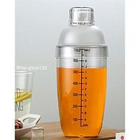Bình lắc pha chế shaker Cocktail trà sữa 700ml nhựa có chia vạch