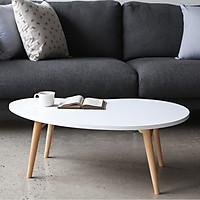 Bàn Trà Sofa D Table Nội Thất Kiểu Hàn - MDF Trắng