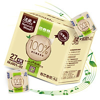 (C & S) rolls of natural wood smooth thick 4 layers of 140g toilet paper * 27 volumes (FCL sales of low-white paper towels)