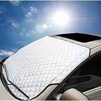 Tấm chắn nắng, chống nắng ngoài kính lái ô tô 3 lớp, tráng bạc