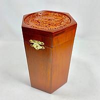 Hộp đựng trà gỗ hương trạm khắc Phi Long phong thủy