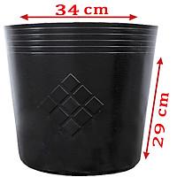 100 Chậu C13 NHỎ 34x29cm nhựa PE dẻo trồng cây bền từ 5 đến 10 năm-1 bao