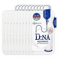 Combo 10 Mặt nạ cấp nước dưỡng ẩm, phục hồi làn da Mediheal D:NA Proatin Mask (Aquaring) 25ml x10
