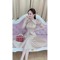 Đầm bá tước phi lụa xoè cao cấp hình thật Sp<Hàng thiết kế>