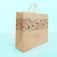 Túi giấy Kraft Nâu Noel Xmas- Size 36 x 30.5 x 12cm [COMBO 10 cái] Mã XMAS03N