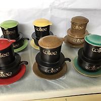 Bộ phin pha cà phê - Gốm sứ Bát Tràng