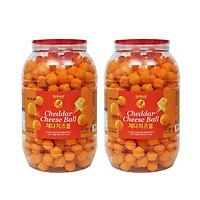 [Combo 2] Snack Cheese Ball Phô Mai Viên Size Jumbo No Brand 370g