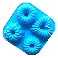 Khuôn Silicon 4 hình hoa kiểu