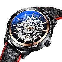 TEVISE Men Watch Automatic Mechanical Watch Wrist Watch 30M Waterproof Luminous Pointer Leather Watchband