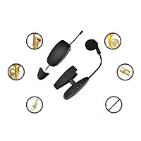 UHF Saxophone Mic Wireless Microphone System Clip on Musical Instruments for Saxophone Trumpet Horn Tuba Flute Clarinet Accessories