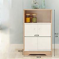 Tủ đựng đồ gia dụng - 3 ngăn, 2 ngăn cửa. (KT 81,2 x 50cm) Giao màu ngẫu nhiên